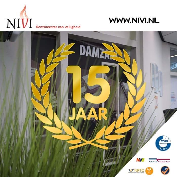 NIVI 15 Jaar advertentie